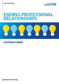 Dental GEN Ending professional relationships cover 2016