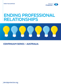 Continuum ­- Ending professional relationships
